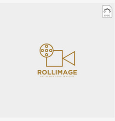 Video recorder fil studio logo template icon vector