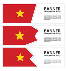 vietnam flag banners collection independence day vector image