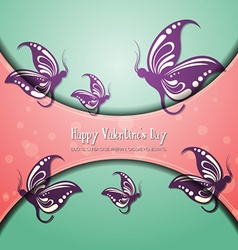 With love and butterfly vector
