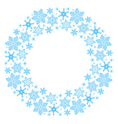 wreath of snowflakes vector image