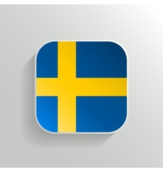 Button - Sweden Flag Icon vector image vector image