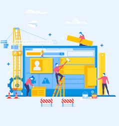 designing a website or applicationwebsite under vector image