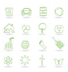 eco friendly icon vector image vector image