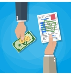 paying tax concept vector image