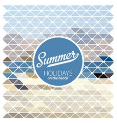 summer retro poster vector image