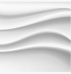 wavy silk abstract background white satin vector image