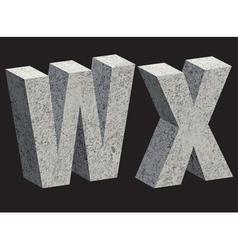 3456 WX concrette vector image