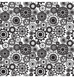 Black gears steampunk seamless pattern vector image vector image