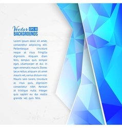 Blue triangles on white background vector image vector image