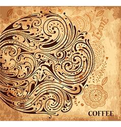 Cute Garden floral line designs vector image