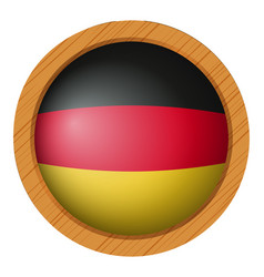 Flag of germany in round icon vector