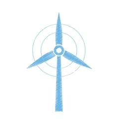 Wind turbine green energy vector