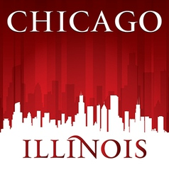 Chicago Illinois city skyline silhouette vector image vector image