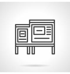 Information ad board black line icon vector image vector image