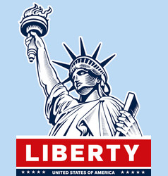 liberty statue usa symbol nyc vector image