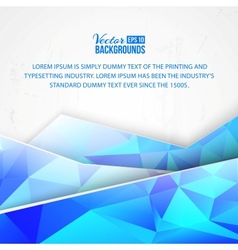 Blue triangles and waves on white background vector image vector image