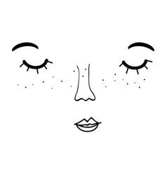 Woman face design image vector