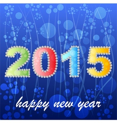 2015 year greeting card design version vector image