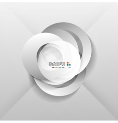 Abstract paper circles design vector image