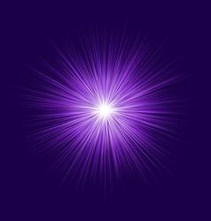 Abstract purple blast design on dark background vector