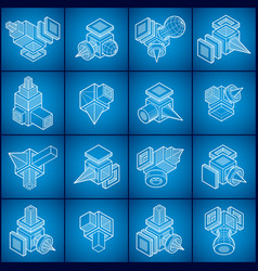 abstract shapes collection vector image