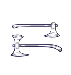 Axes isolated on white vector