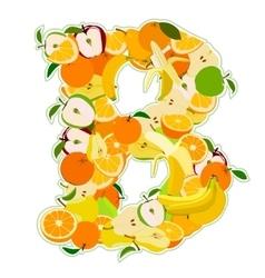 B made fruits vector