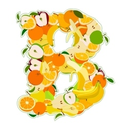 B made of fruits vector