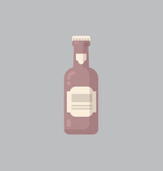 beer bottle icon oktoberfest festival concept vector image