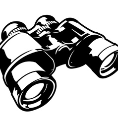 Binoculars black and white vector
