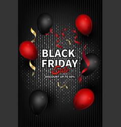 black friday social media post template for vector image