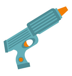 blue plastic water gun icon isolated vector image