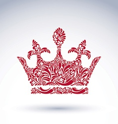 Bright flower-patterned majestic crown best vector
