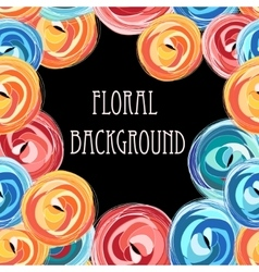 Bright graphic floral vector