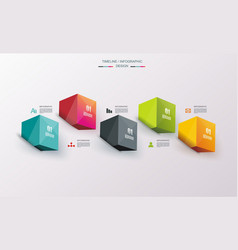 Business design template with bright 3d cubes can vector