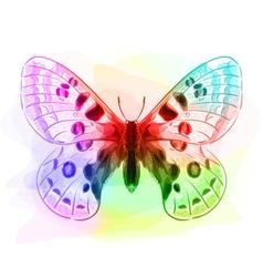 Butterfly iridescen colours vector