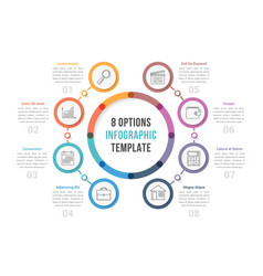 circle infographic template with eight options vector image