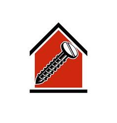Classic screw icon vector