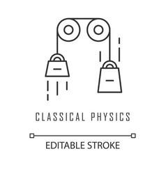 Classical physics linear icon laws motion and vector