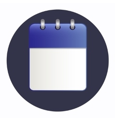 Clean sheet of calendar vector