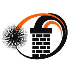Cleaning chimney brick chimney symbol vector