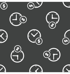 Clock and dollar sign pattern vector image