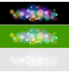 Colored Lights on Green and Black Background vector