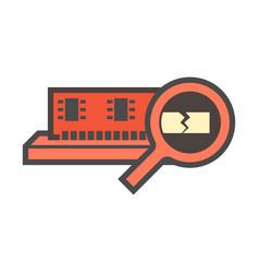 computer ram icon vector image