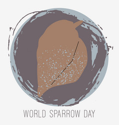 Creative sparrow vector
