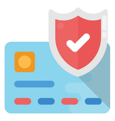 Credit card security shield vector