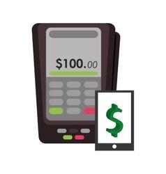 Credit card terminal vector