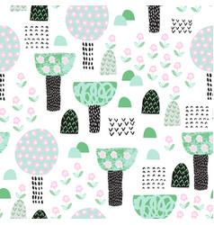 cute garden seamless patten cartoon blooming vector image