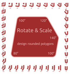 design rounded polygons vector image