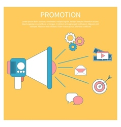 Digital marketing concept with megaphone vector image